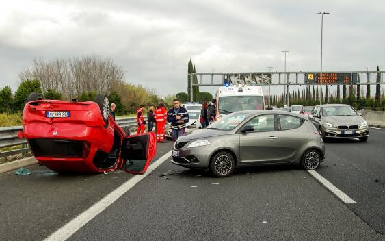 Autounfallszene