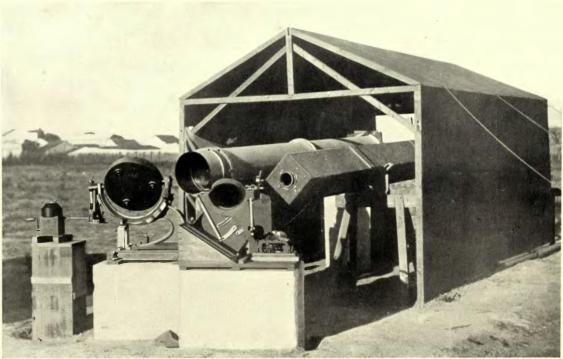 Teleskope für die Beobachtung der Sonnenfinsternis