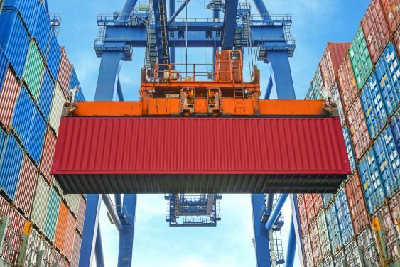 Containerkran im Einsatz