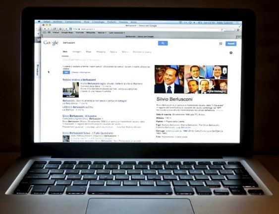 Silvio Berlusconi in Suchmaschinenergebnis