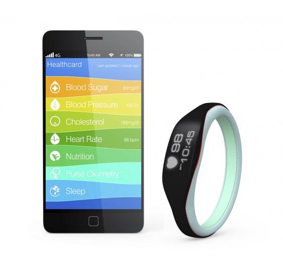 Fitnesstracker und Smartphone