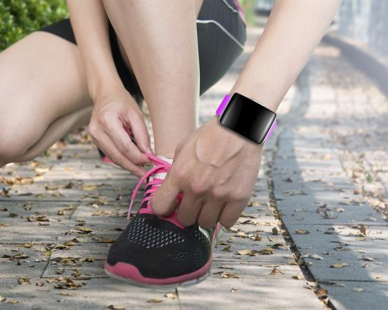 Fitnesstracker am Handgelenk