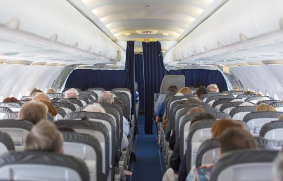Blick in die Kabine eines Jets