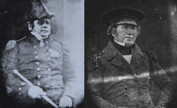Sir John Franklin und Francis Crozier, die Befehlshaber der Franklin-Expedition