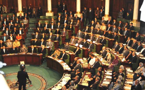 Sitzung der verfassungsgebenden Versammlung in Tunesien Ende 2011.