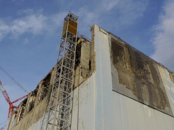 Block 4 des Fukushima Daiichi nuclear power plan, 2013