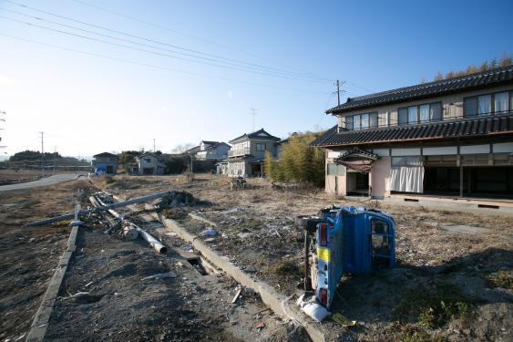 Aufgegebene Häuser bei Fukushima Daiichi