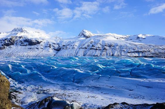Gletscherzunge Svínafellsjökull, Island