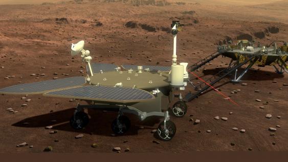 Lander und Rover der Tianwen-1-Mission