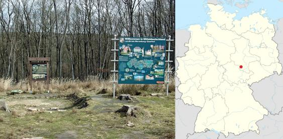 Foto und Karte des Fundorts