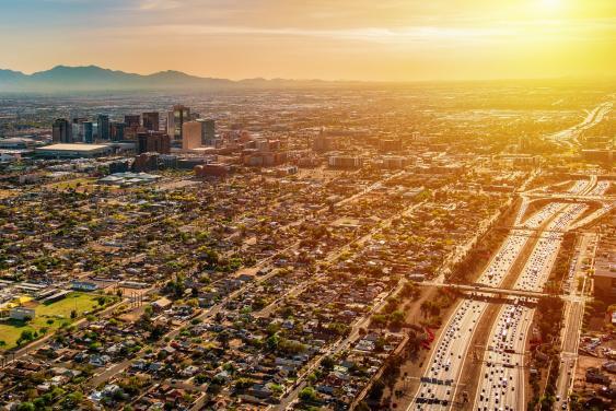 Luftbild von Phoenix, Arizona
