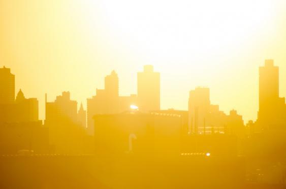 Hitze, Stadtsilhouette