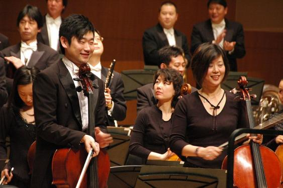 China Philharmonic Orchestra in der Beijing Concert Hall.