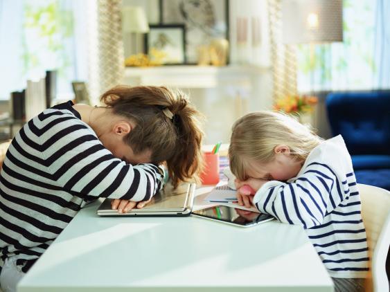 Symbolbild Überforderung beim Homeschooling