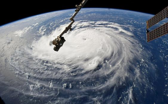 "Luftaufnahme des Hurrikans ""Florence"", Sep. 2018"