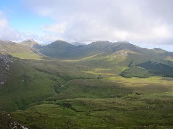 Blick vom 442 Meter hohen Diamond Hill im Connemara National Park.