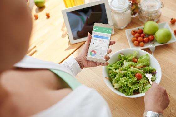 Kalorienapp auf Smartphone