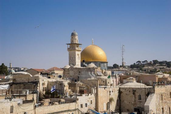 Blick zum Felsendom, Jerusalem
