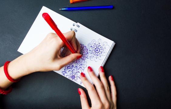 Malen mit der linken Hand