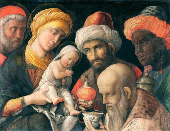 Anbetung der Könige von Andrea Mantegna (zwischen 1495 und 1505)