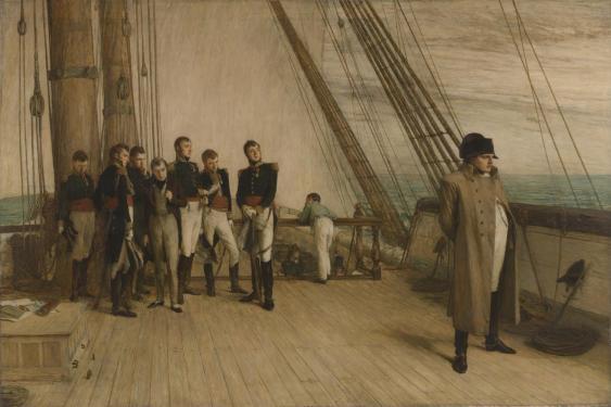 Napoleon an Bord der Bellepheron, Gemälde von Sir WilliamQuiller Orchardson