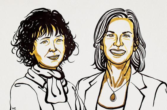 Chemienobelpreisträger 2020: Emmanuelle Charpentier (l.) und Jennifer A. Doudna (r.)