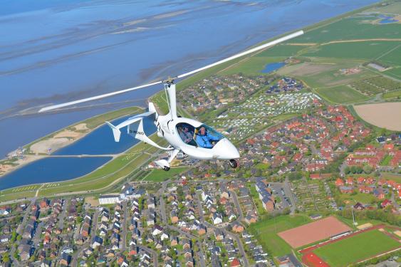 Gyrokopter über Büsum