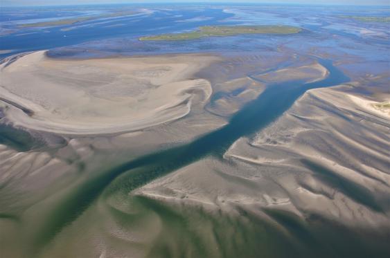 Luftbild des Wattenmeeres