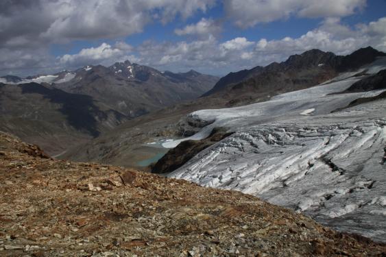 Fundstelle der Eismumie in den Ötztaler Alpen