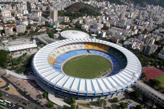 Luftbild des Maracana-Stadions in Rio