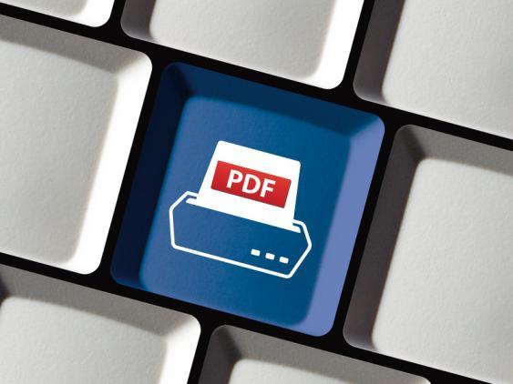 Tastatur mit PDF-Taste