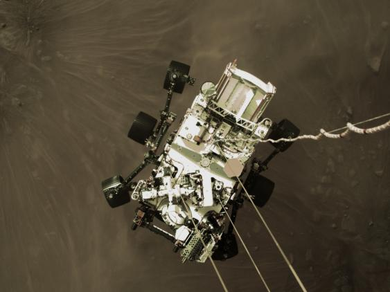 Landung des Marsrovers Perseverance