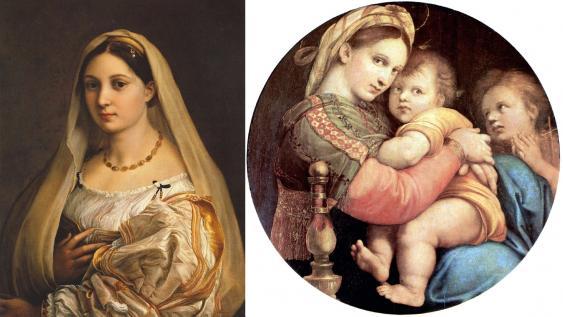 La Velata (auch La Donna Velata) und Madonna della seggiola, beide von Raffael