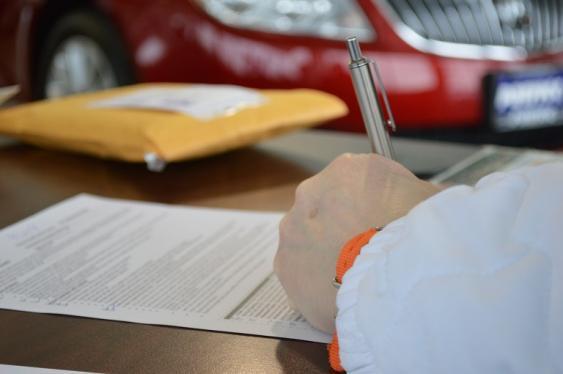 Unterschriftsleistung