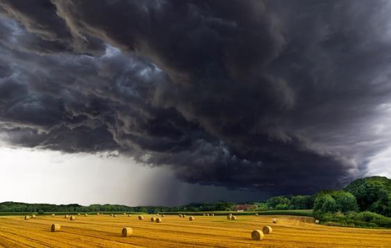 Aufziehendes Unwetter