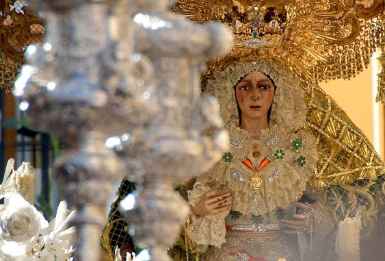 Virgen de la Macarena während der Semana Santa de Sevilla, 2008