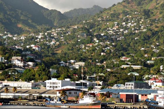 Kingstown, die Hauptstadt von St Vincent und den Grenadinen
