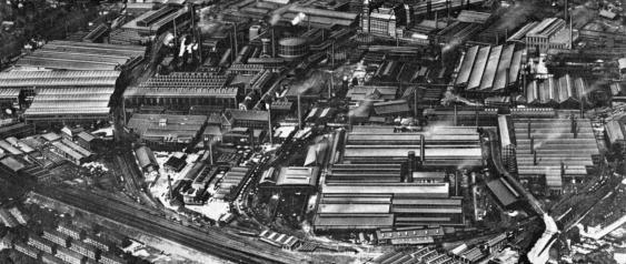 Luftbild der Krupp-Gussstahlfabrik in Essen (um 1913)