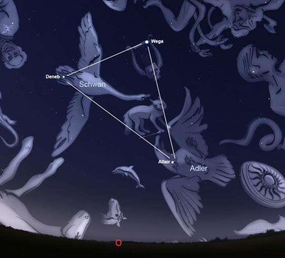 Sternbilder Schwan und Adler