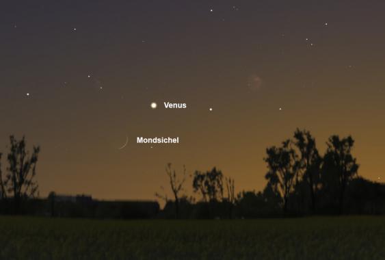 Stellariumbild des nächtlichen Sternehimmels