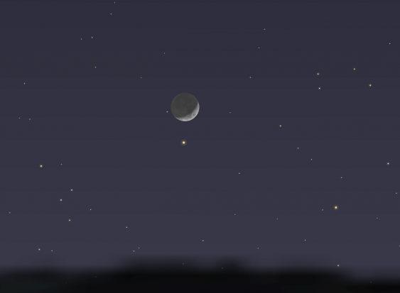 Mondsichel am 16. Februar 2021