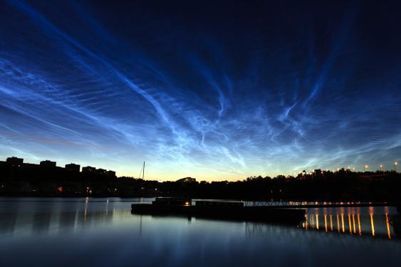 Nachtwolken über Stockholm