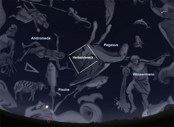 Herbstlicher Sternenhimmel mit Sternzeichen