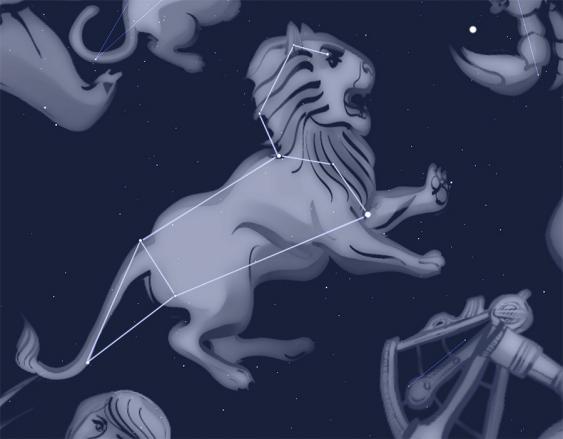 Das Frühlings-Sternbild Löwe gewinnt im März im Osten an Höhe.
