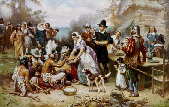 The First Thanksgiving 1621, von Jean Leon Gerome Ferris