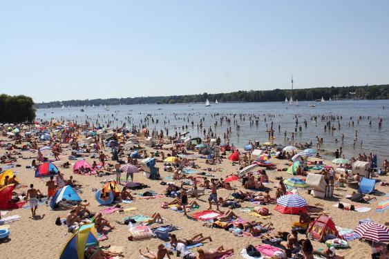 Strandbad Wannsee im Sommer 2012