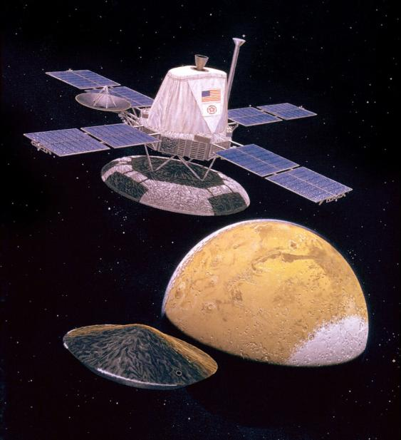 Absetzen des Landers der Viking-1-Mission