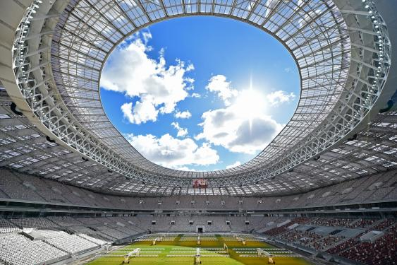 Dachkonstruktion des Luschniki-Stadions in Moskau