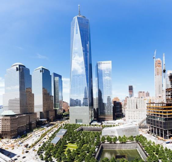 WTC-Neubau und 9-11-Mahnmal