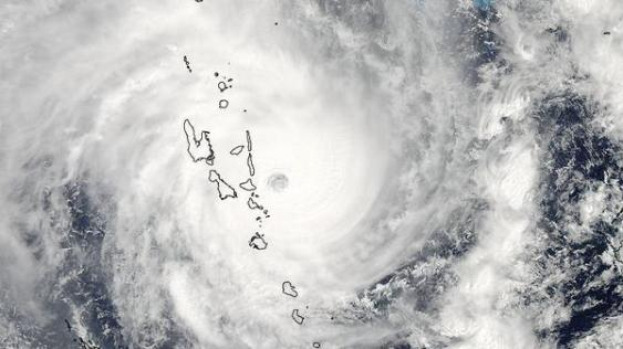 Zyklon Pam (2015) über Vanuatu
